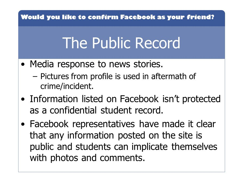 The Public Record Media response to news stories.