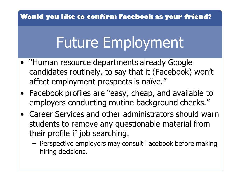 Future Employment