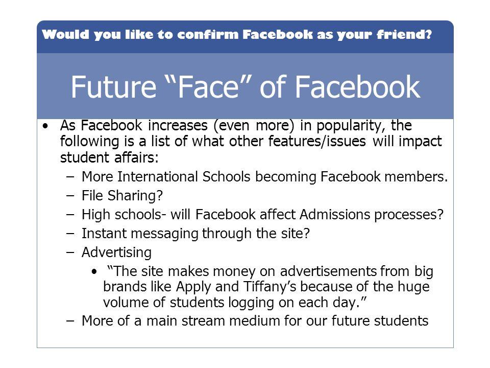 Future Face of Facebook