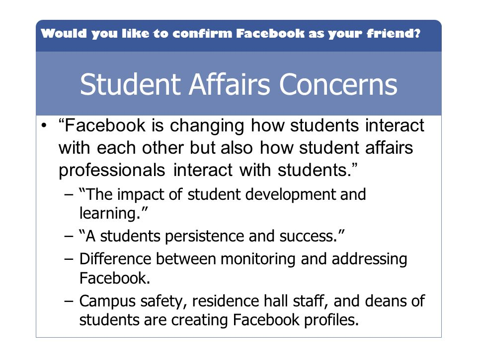 Student Affairs Concerns