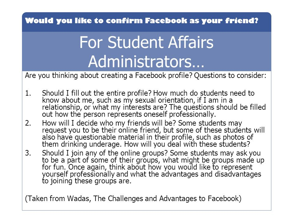 For Student Affairs Administrators…