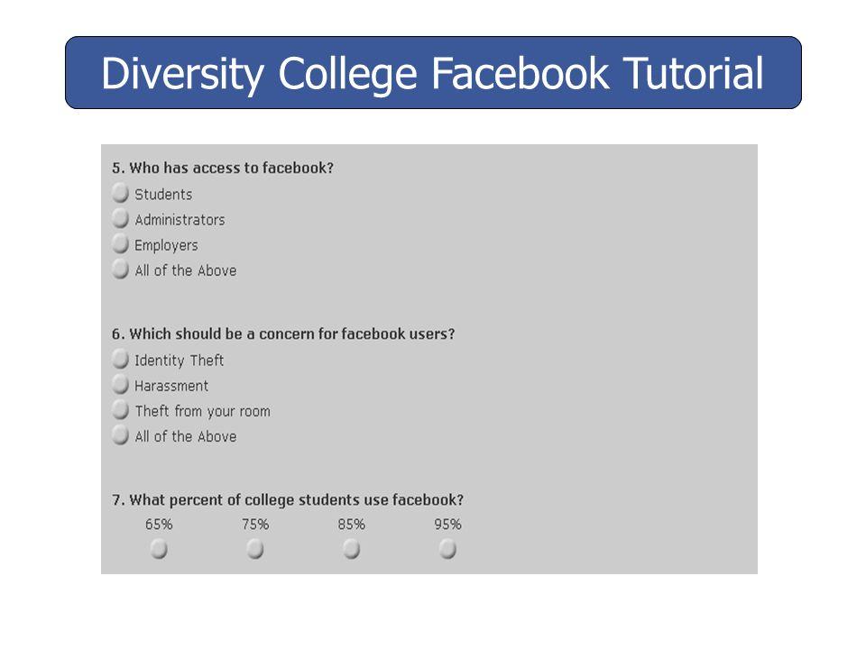 Diversity College Facebook Tutorial