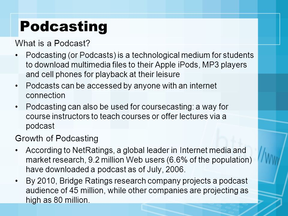 Podcasting What is a Podcast Growth of Podcasting