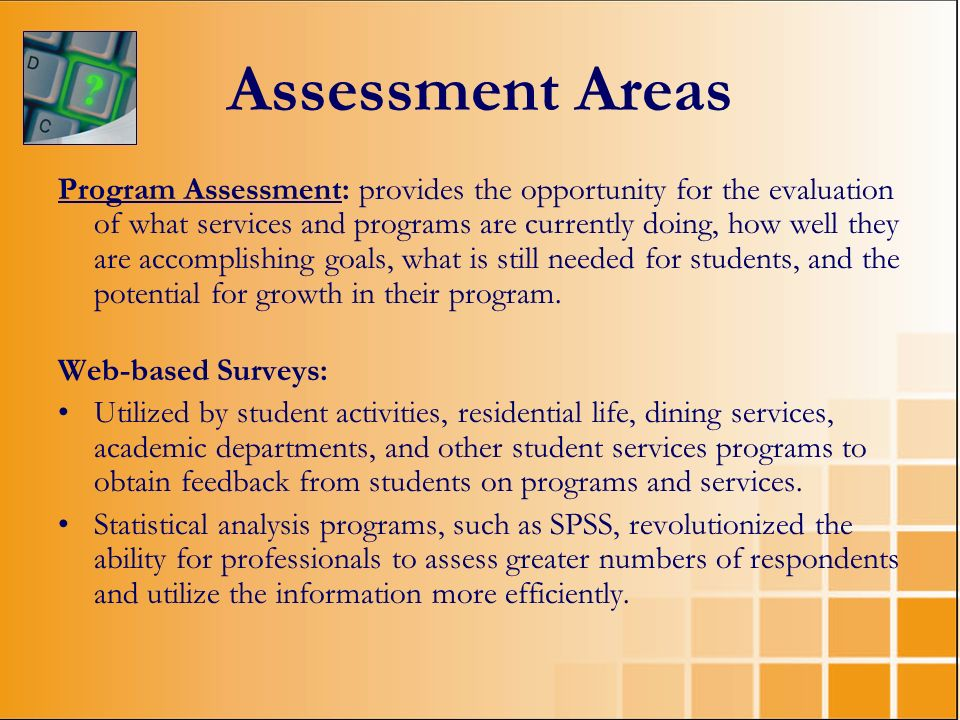 Assessment Areas