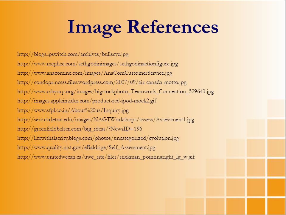 Image References http://blogs.ipswitch.com/archives/bullseye.jpg