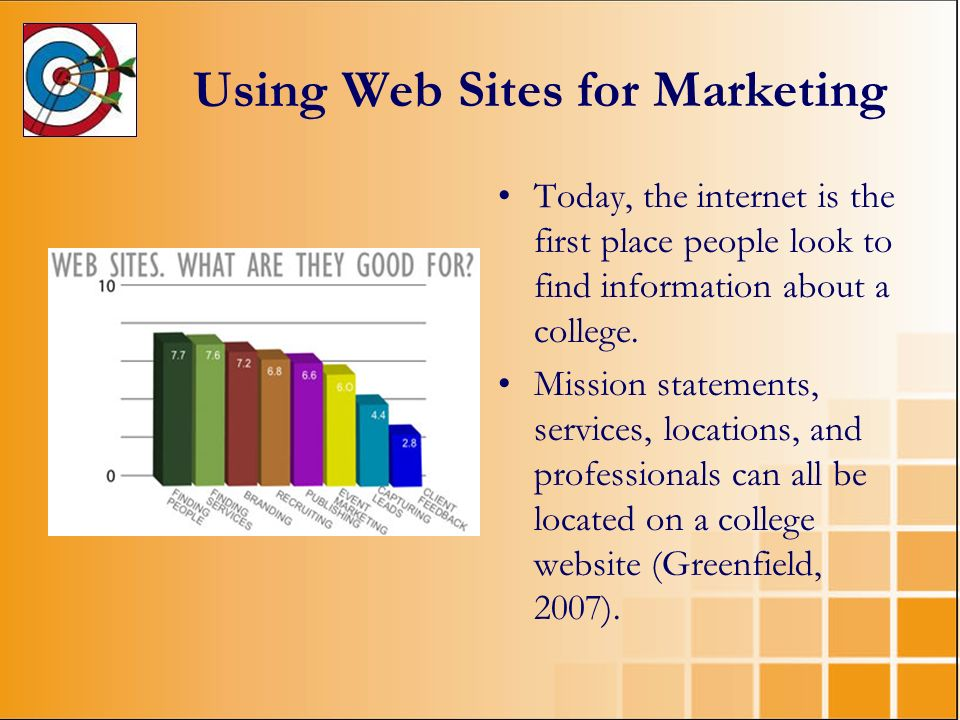 Using Web Sites for Marketing