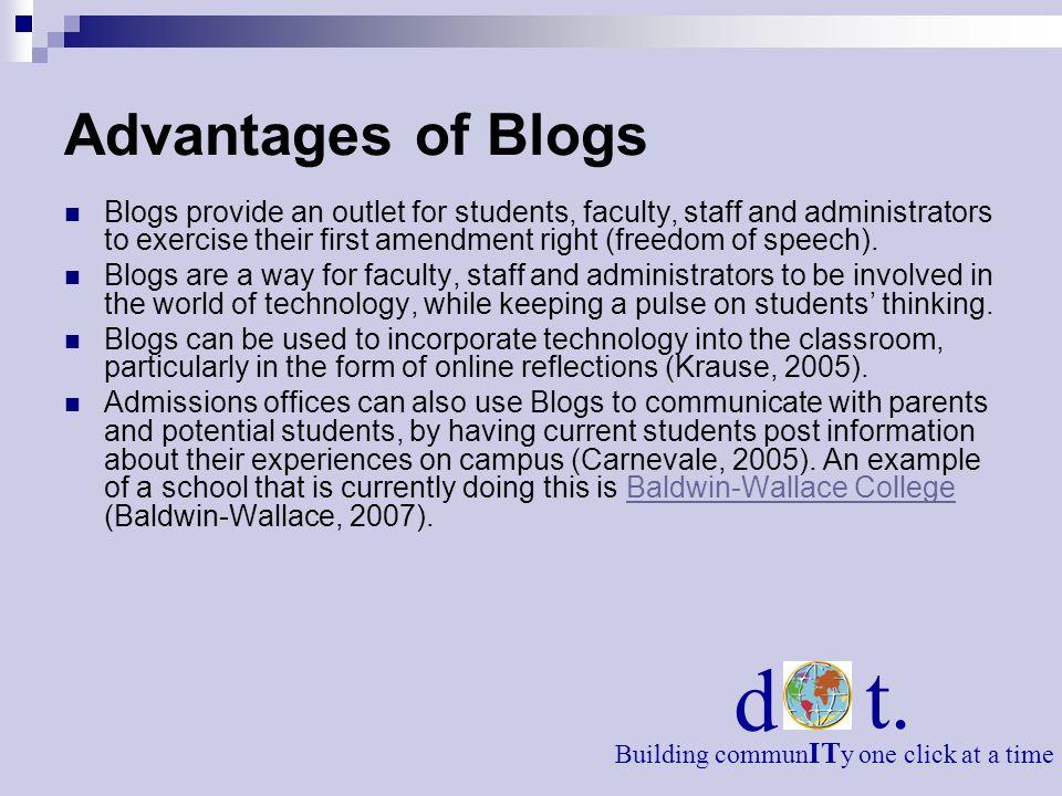 Advantages of Blogs