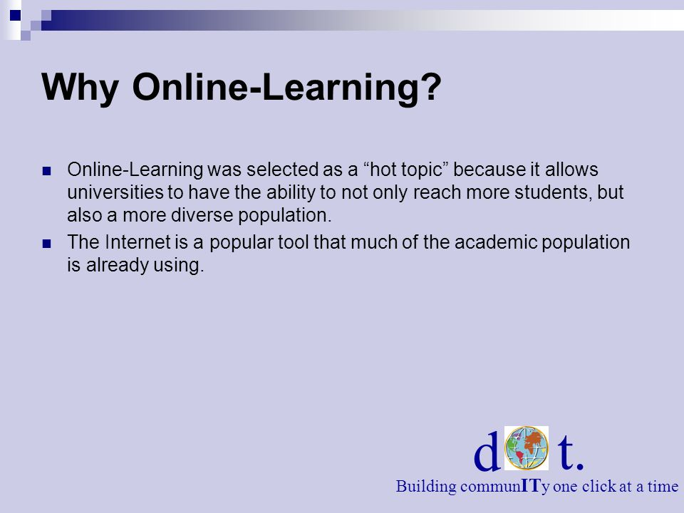 d t. Why Online-Learning