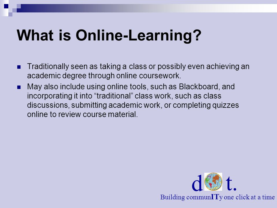 What is Online-Learning