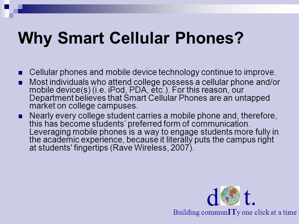 Why Smart Cellular Phones