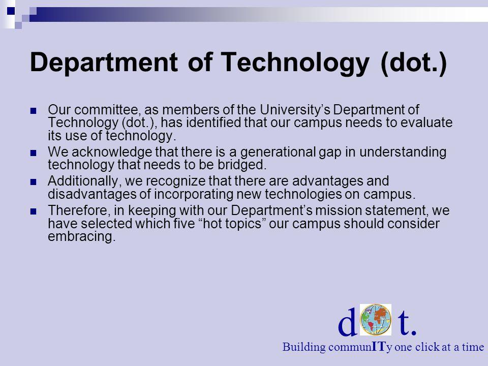 Department of Technology (dot.)