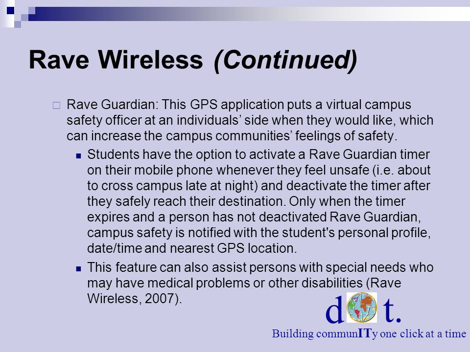 Rave Wireless (Continued)