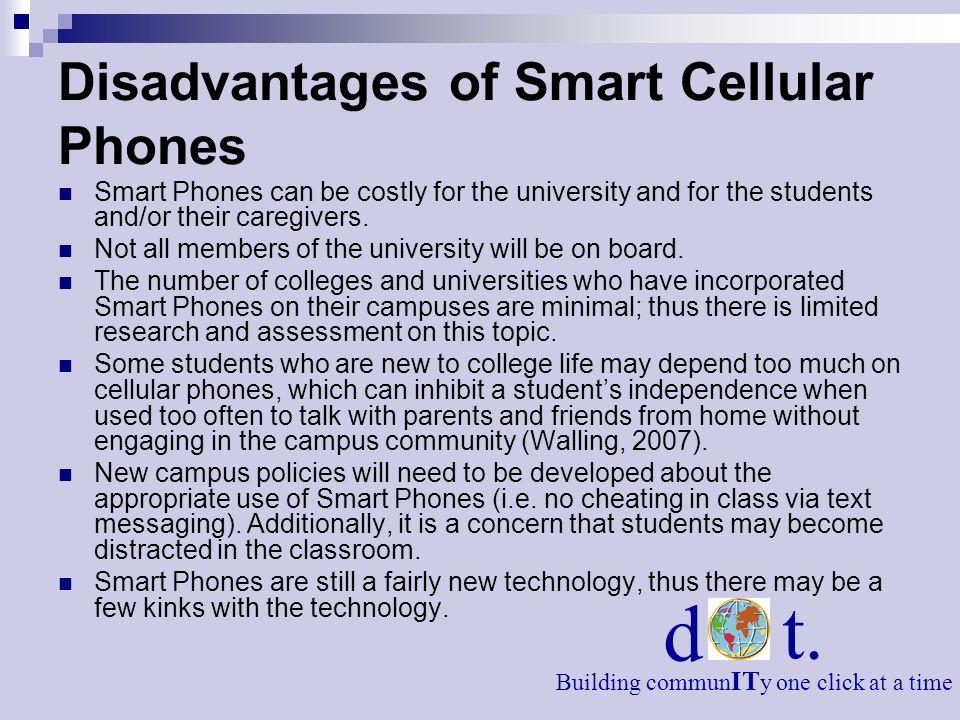 Disadvantages of Smart Cellular Phones