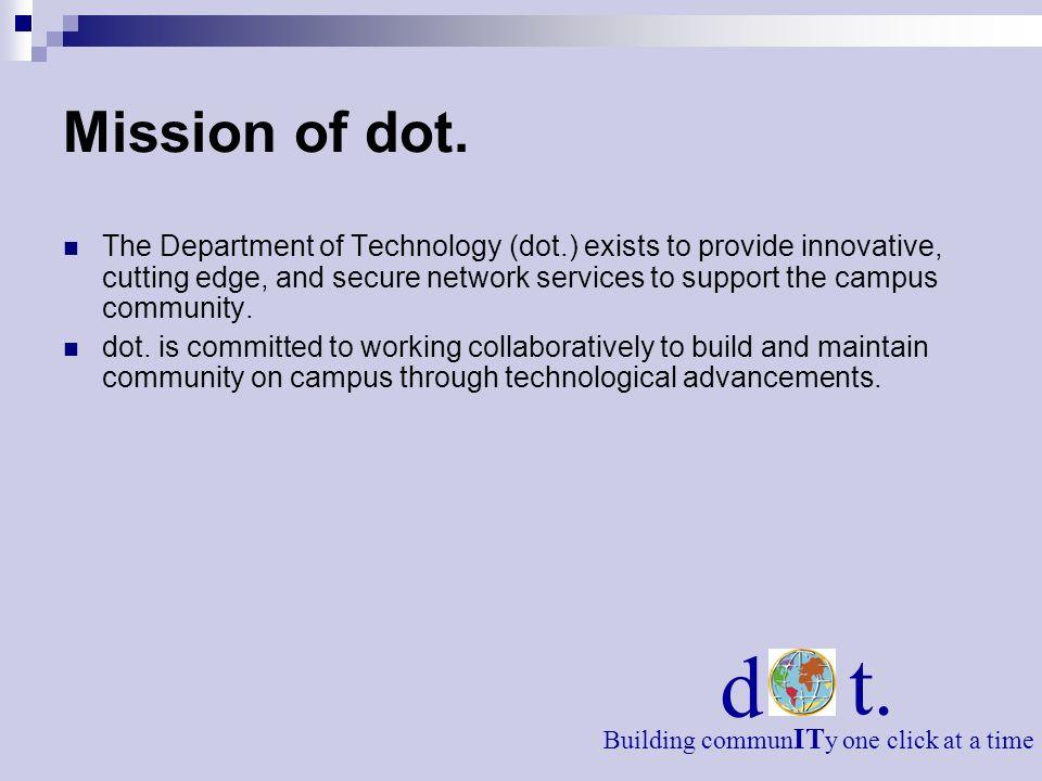 Mission of dot.