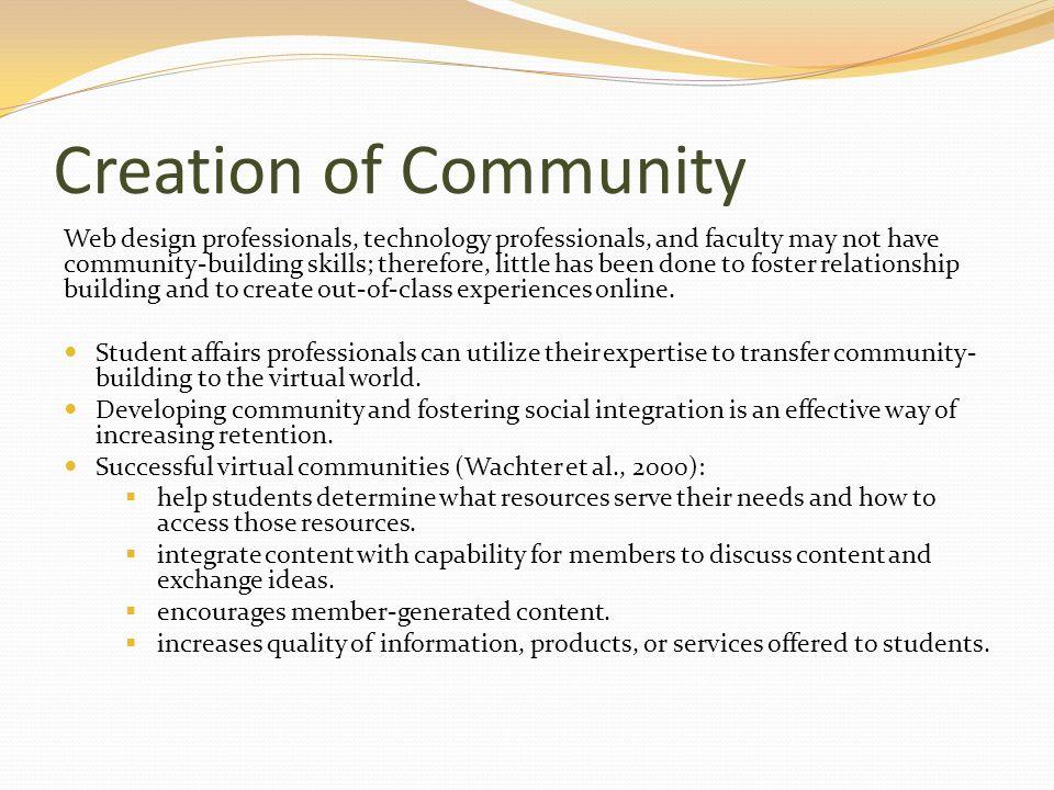 Creation of Community