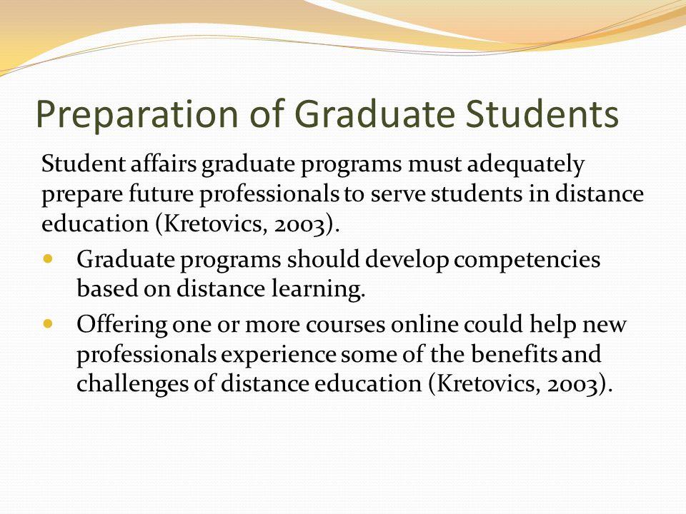 Preparation of Graduate Students