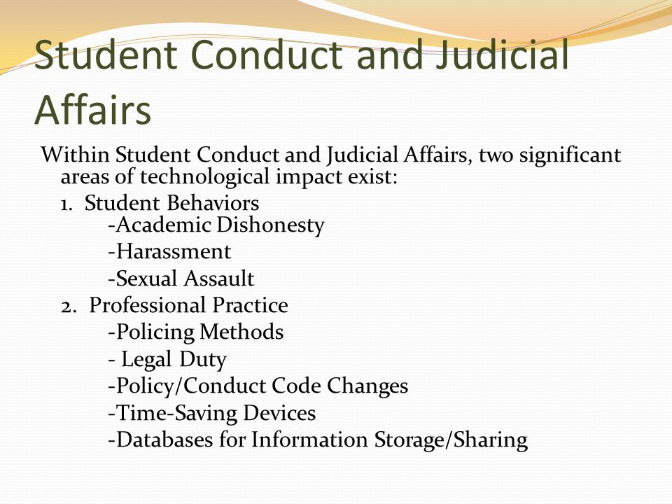 Student Conduct and Judicial Affairs