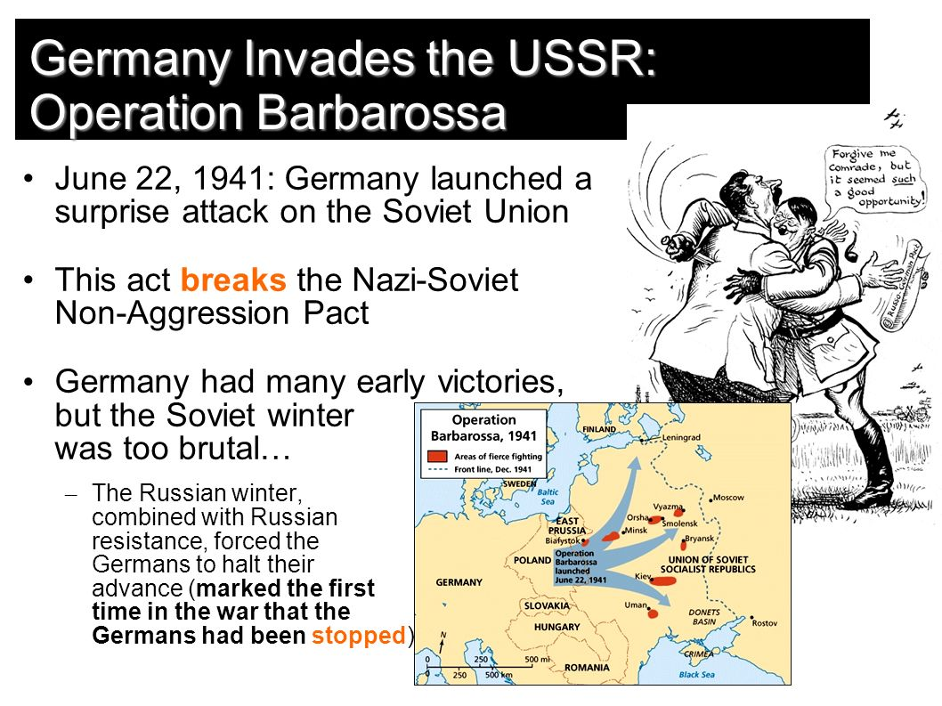 a surprise attack on the soviets through operation barbarossa June 22nd marks the 70th anniversary of operation barbarossa them to begin preparing a massive surprise attack on the prussia through the baltic.