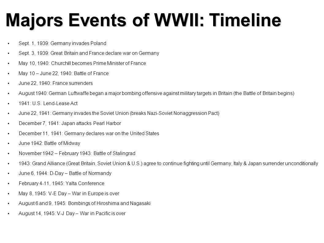 events leading up world war 2 The countries that lost world war i–germany, austria, hungary, bulgaria, and turkey–were especially dissatisfied with the peace of paris they were stripped of territory, arms and were required to make reparations (payments for war damages.