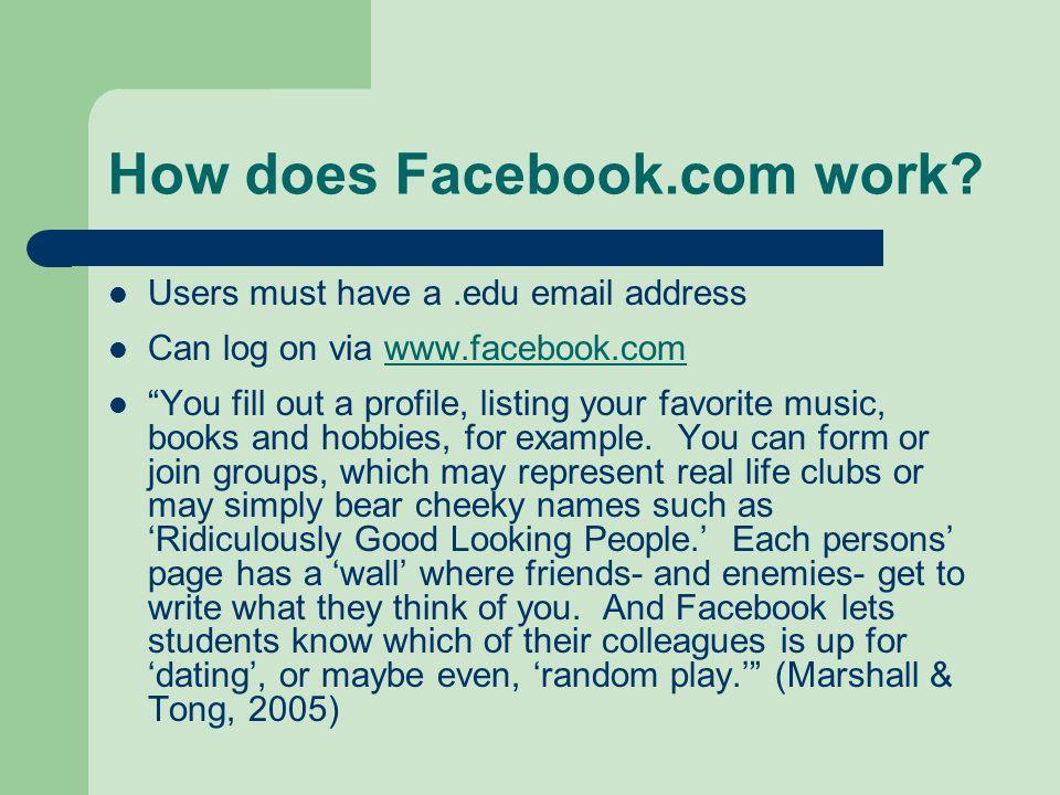 How does Facebook.com work