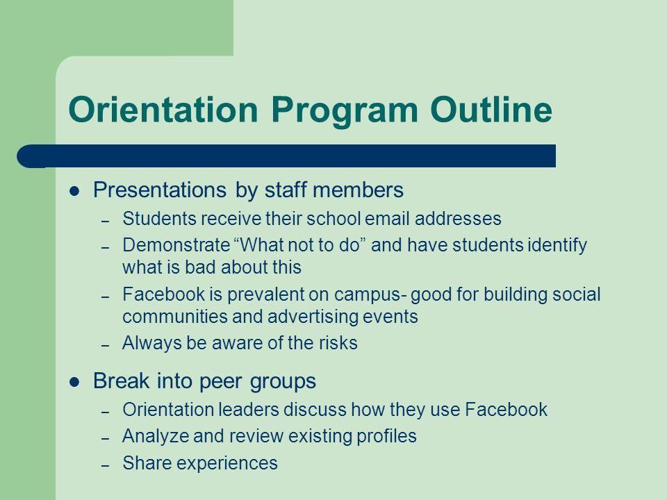 Orientation Program Outline