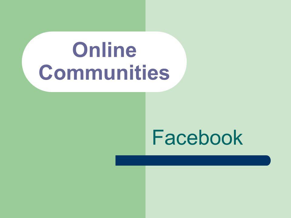 Online Communities Facebook