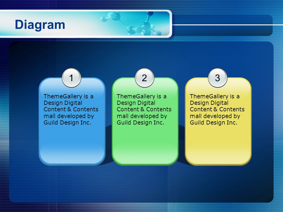 Diagram 1. 2. 3. ThemeGallery is a Design Digital Content & Contents mall developed by Guild Design Inc.