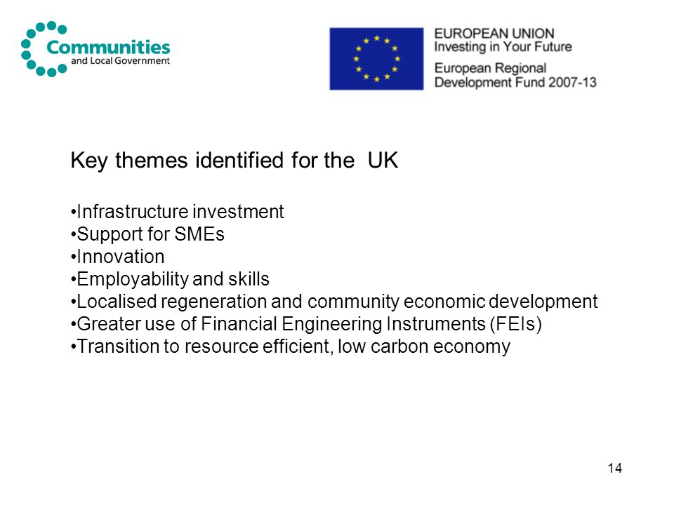 Key themes identified for the UK