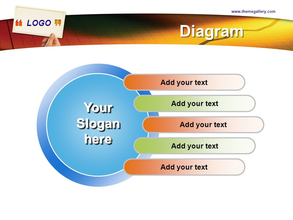 Diagram Your Slogan here Add your text Add your text Add your text