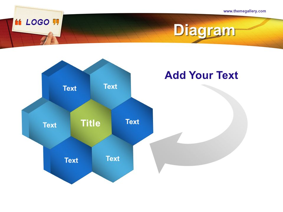 www.themegallery.com Diagram Text Title Add Your Text