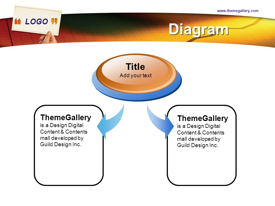 Diagram. Title. Add your text. ThemeGallery is a Design Digital Content & Contents mall developed by Guild Design Inc.