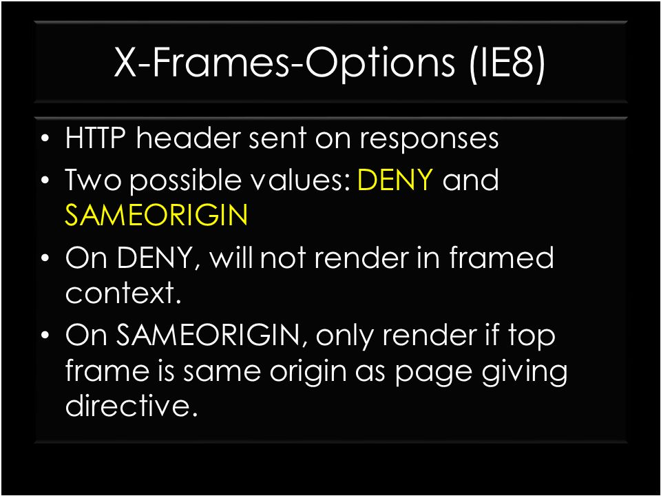 X-Frames-Options (IE8)