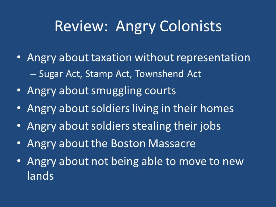 Review: Angry Colonists