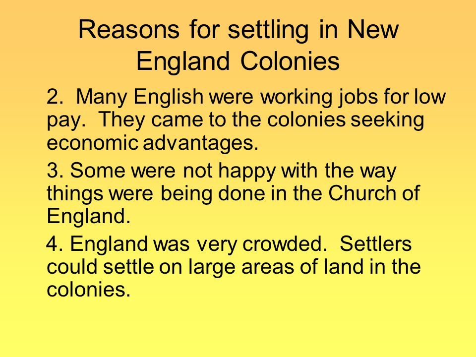 spanish and english motives for settling In 1492, a spanish expedition headed by christopher columbus reached the   possessions in north america included spanish florida, the english  many  immigrants to the american colonies came for economic reasons.
