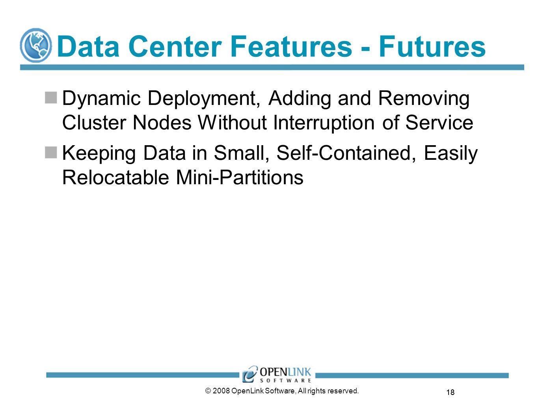 Data Center Features - Futures