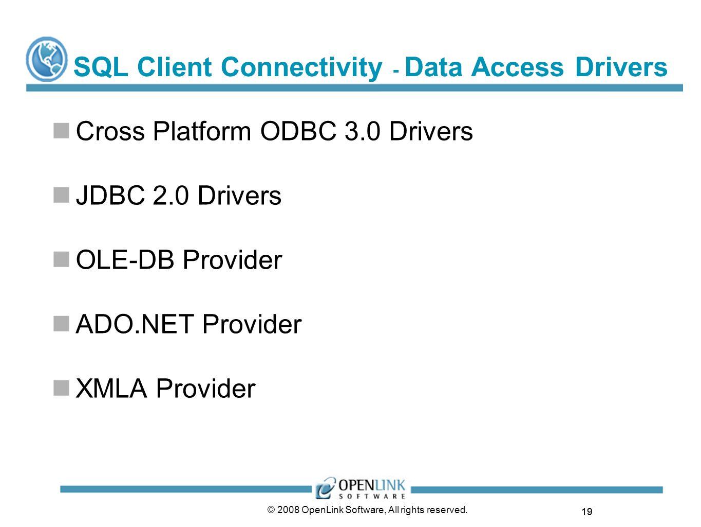 SQL Client Connectivity - Data Access Drivers