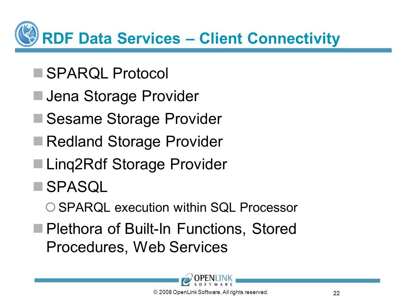 RDF Data Services – Client Connectivity