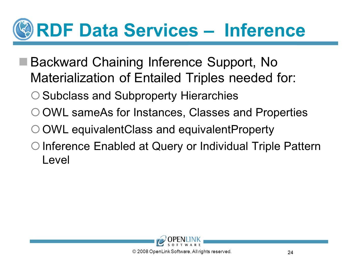 RDF Data Services – Inference