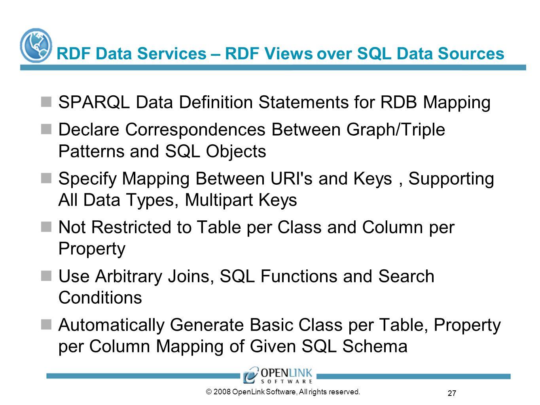 RDF Data Services – RDF Views over SQL Data Sources