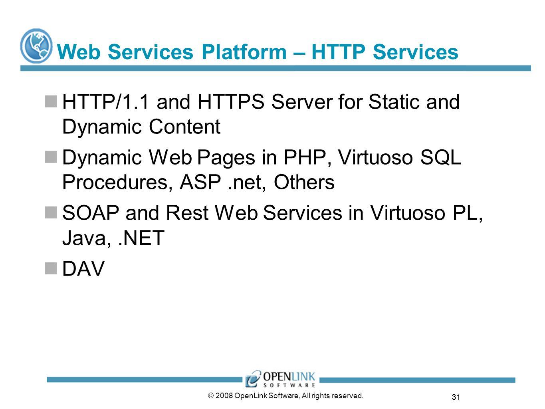 Web Services Platform – HTTP Services