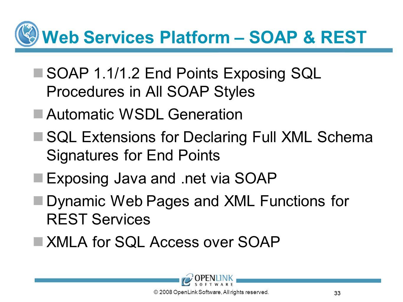 Web Services Platform – SOAP & REST