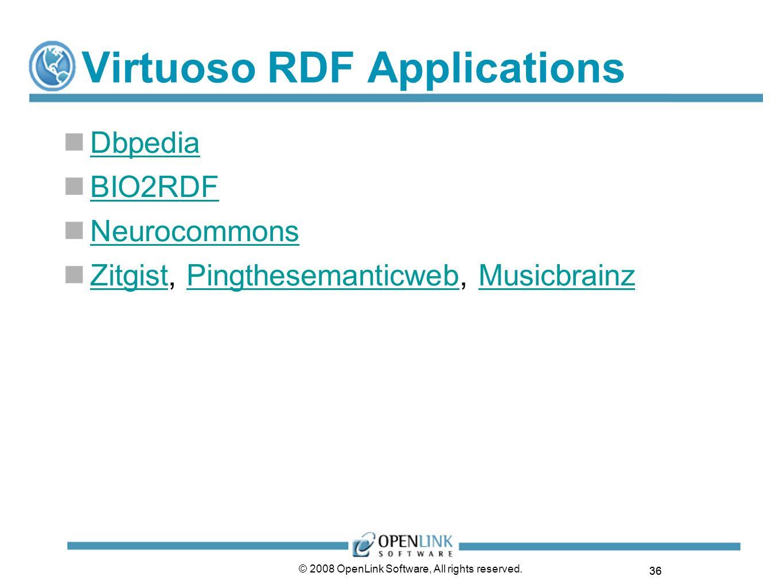 Virtuoso RDF Applications
