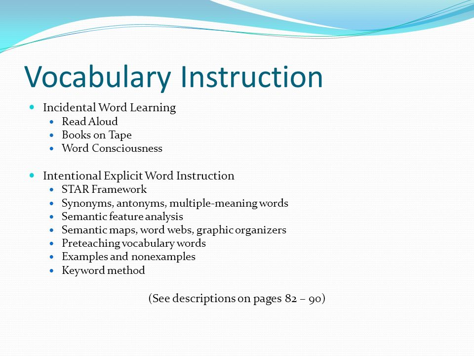 An Analysis Of The Vocabulary Instruction College Paper Writing