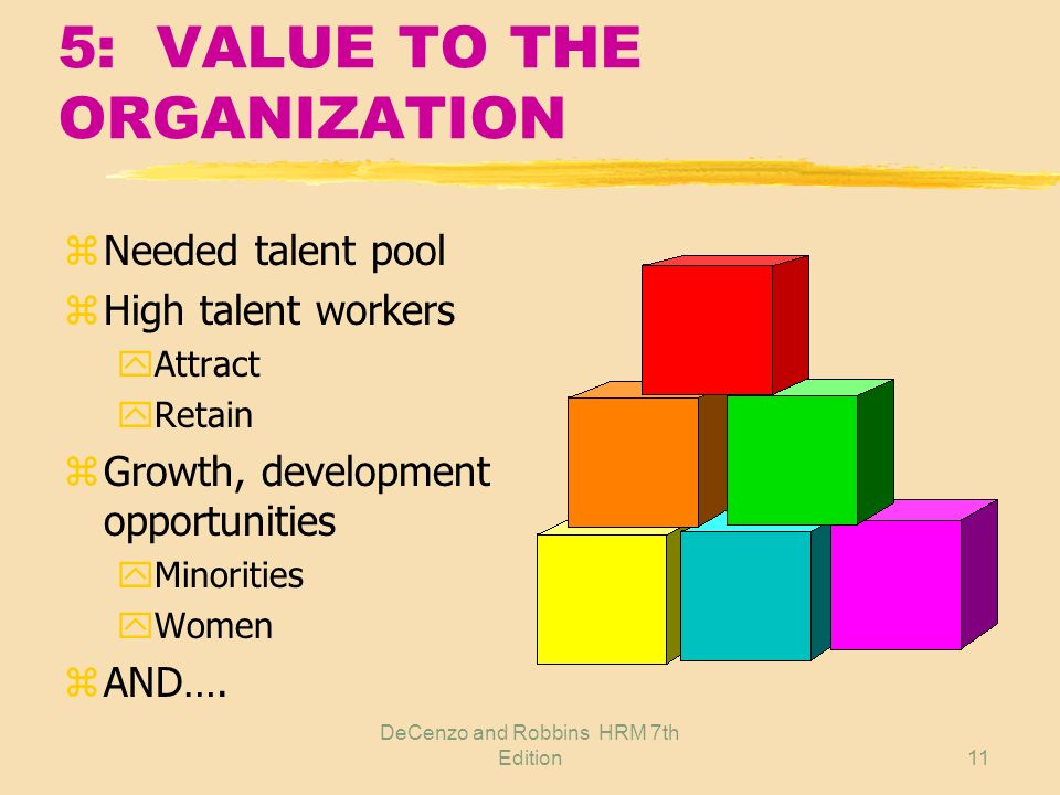 5: VALUE TO THE ORGANIZATION