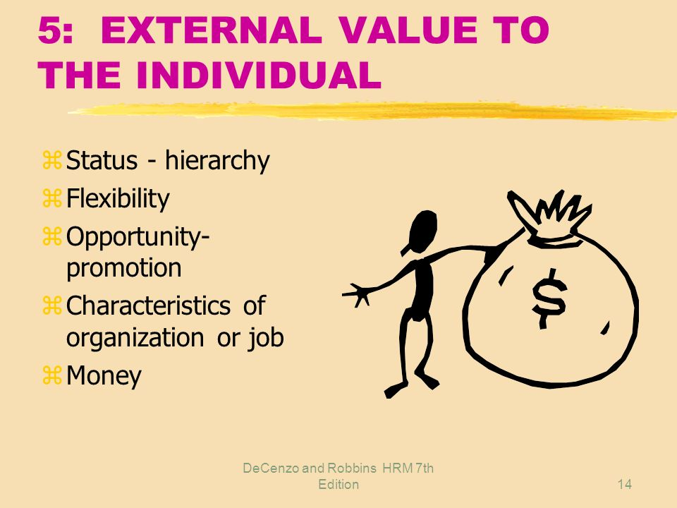 5: EXTERNAL VALUE TO THE INDIVIDUAL