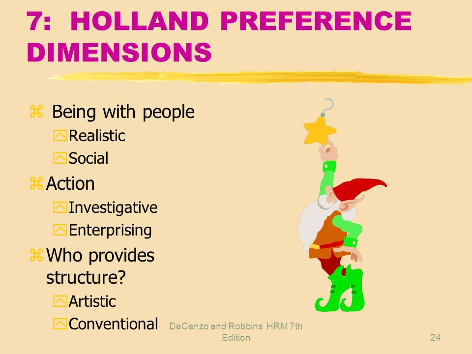 7: HOLLAND PREFERENCE DIMENSIONS