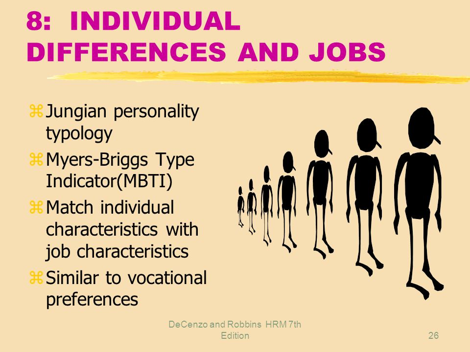 8: INDIVIDUAL DIFFERENCES AND JOBS