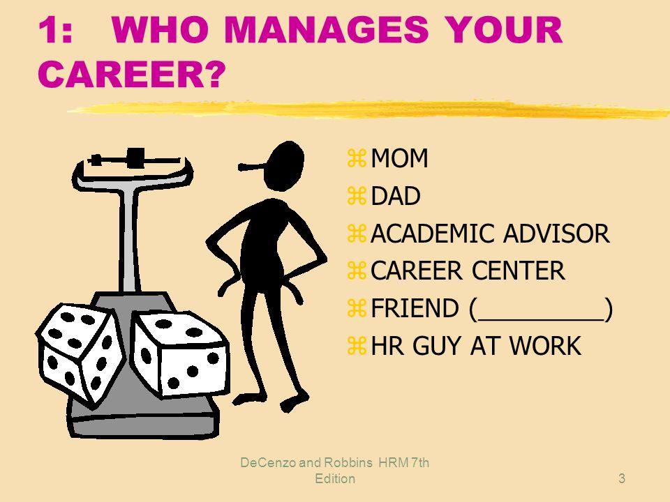 1: WHO MANAGES YOUR CAREER