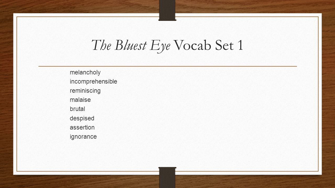 bluest eye theme essay Struggling with the themes of toni morrison's the bluest eye we've got the quick and easy lowdown on them here  write essay  teaching   the bluest eye is.
