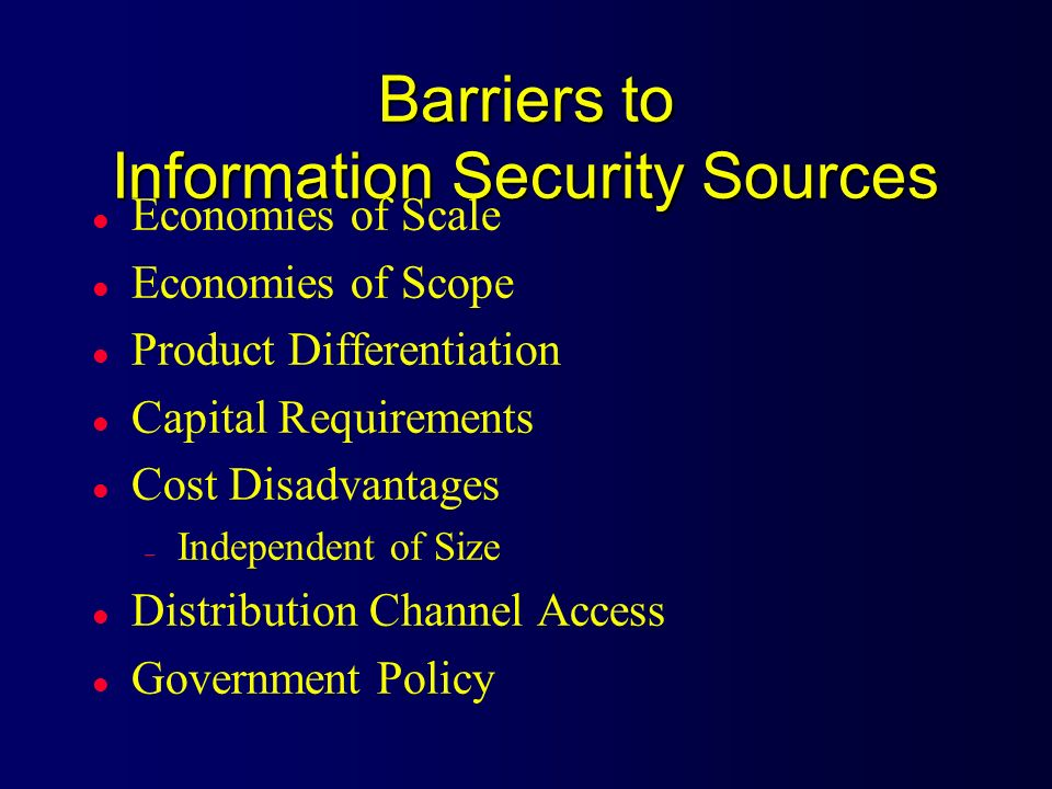 Barriers to Information Security Sources